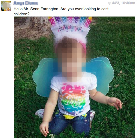 Sean's Strange Facebook Msg - kid picture